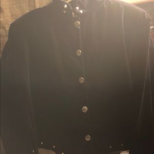 Black western jacket with silver studs.